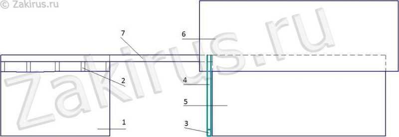 схема установка бруса для стропил
