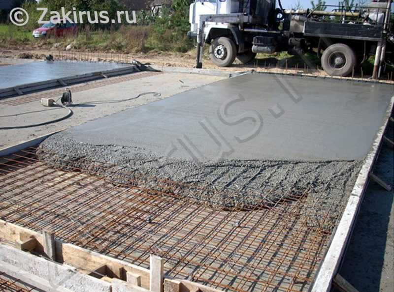 заливка бетона своими руками